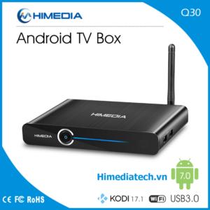 HIMEDIA Q30 – Chip HISILICON HI3798M V200 Quad Core 64bit, Ram 2G, Android 7.0 chuẩn mực Android Box 2017